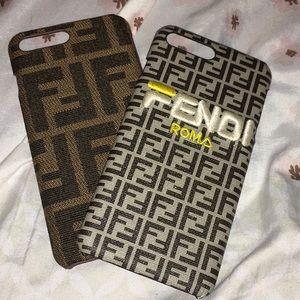 2 Fendi iphone 8plus cases for $35
